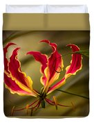 Fire Lily Duvet Cover
