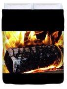 Fire On Wood Duvet Cover