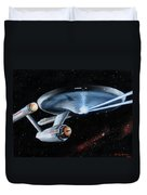 Fire Phasers Duvet Cover by Kim Lockman