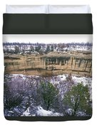 Fire Temple And New Fire House Ruins Duvet Cover