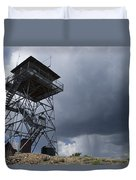 Fire Tower On Bald Mountain Surrounded Duvet Cover