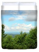 Fire Tower View - Pipestem State Park Duvet Cover