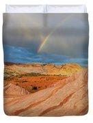 Fire Wave Rainbow Dawn Duvet Cover