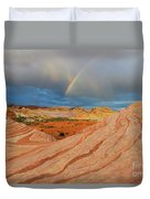 Fire Wave Rainbow Dawn Duvet Cover