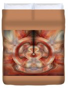 Fire Wheel Duvet Cover