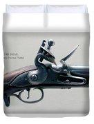 Firearms 1746 British Flintlock Horse Pistol Duvet Cover