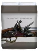 Firearms 1792 Virginia Legion Of The United States Rifle Duvet Cover