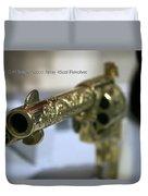 Firearms Gold Colt Single Action Army 45cal Revolver Duvet Cover