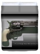 Firearms Tv Lone Ranger 45cal 1960 Colt Army Revolver Duvet Cover