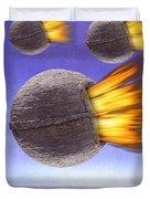 Fireballs Duvet Cover