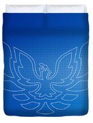 Firebird Blueprint Duvet Cover