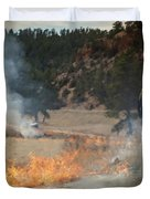 Firefighter Ignites The Pleasant Valley Prescribed Fire Duvet Cover by Bill Gabbert