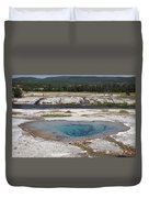 Firehole River And Pool Duvet Cover