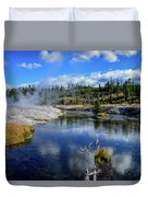 Firehole River Yellowstone Duvet Cover