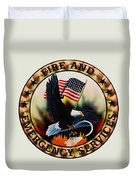 Fireman - Fire And Emergency Services Seal Duvet Cover