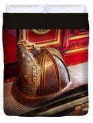Fireman - Hat - Commander  Duvet Cover