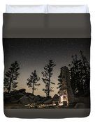 Fireplace Under The Stars Duvet Cover