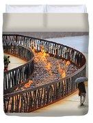 Fireside Walk Duvet Cover