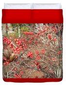 Firethorn Bushes Duvet Cover