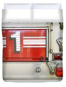 Firetruck Detail I Duvet Cover by Kicka Witte - Printscapes