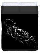 Fireweed Abstract Bw Duvet Cover