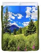 Fireweed, Deer Park Creek, Grand Turk Mountain Duvet Cover