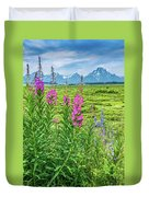 Fireweed In The Foreground Duvet Cover