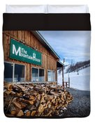 Firewood Ready To Burn In Fire Place Duvet Cover