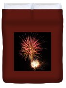 Firework Pink And Gold Duvet Cover