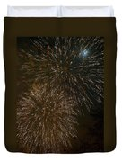 Fireworks 4 With Moon Duvet Cover