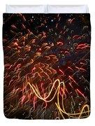 Fireworks Against The Stars Duvet Cover