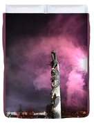 Fireworks And Totem Pole Duvet Cover