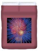 Fireworks Celebration Glow Square Duvet Cover