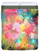 Fireworks Floral Abstract Square Duvet Cover