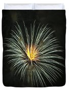 Fireworks Green Flower  Duvet Cover