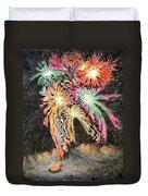 Fireworks Man Duvet Cover