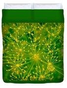 Fireworks Of Dill Flowers Duvet Cover