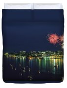 Fireworks Over Halifax Harbor Celebrate Duvet Cover