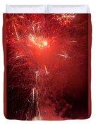 Fireworks Over Humboldt Bay Duvet Cover