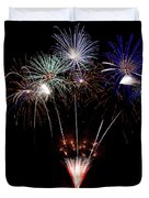 Fireworks Over Lake #14 Duvet Cover