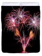 Fireworks Over Lake #15 Duvet Cover