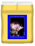 fireworks over San Rafael lake Duvet Cover