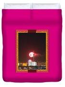 Fireworks Over The Las Vegas Strip Duvet Cover