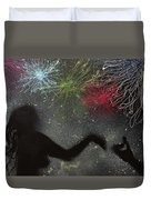 Fireworks Proposal Duvet Cover