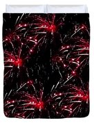 Fireworks - Red Bursts Duvet Cover