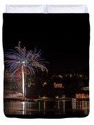 Fireworks Shaldon 2015 Duvet Cover