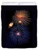 Fireworks Wixom 1 Duvet Cover by Michael Peychich