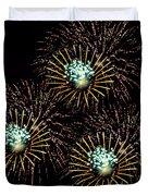 Fireworks - Yellow Spirals Duvet Cover