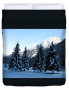 Firs In The Snow Duvet Cover