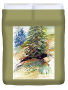 Firs On The Hill Duvet Cover